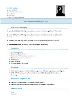 CV sage-femme pdf