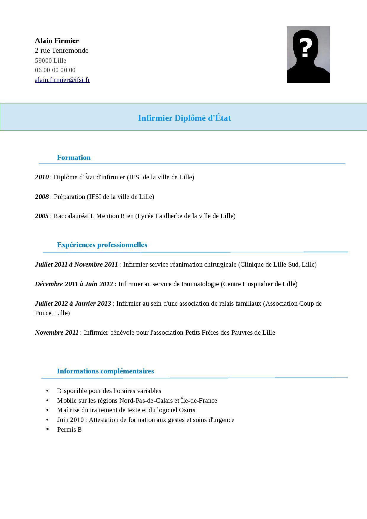 modele cv 2018 pdf