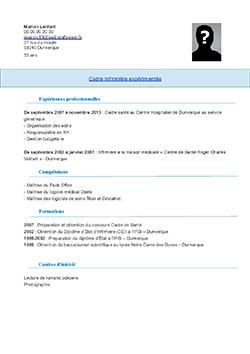 CV Cadre Infirmier pdf