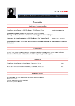 CV Brancardier pdf