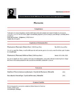 Modele Exemple De Cv Pharmacien Staffsante