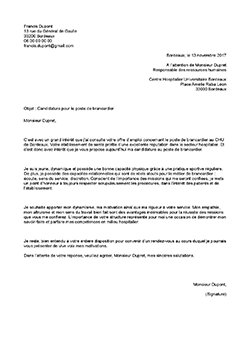 model lettre de motivation