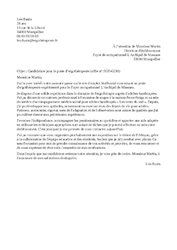 Exemple De Lettre De Motivation Ergotherapeute Staffsante